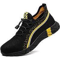Zapatos de Seguridad Hombre Bambas de Seguridad Hombre y Mujer Bambas Punta de Acero Mujer Zapatillas de Trabajo con…