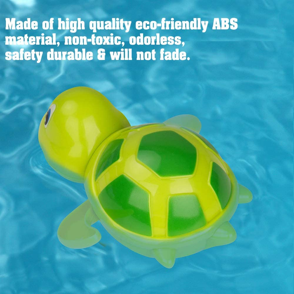 Set of 3 Daisy Baby Bath Toys Turtle Wind Up Bathtub Playset Pool Swimming Tortoise Floating Water Bathing Toy Party Favors for Toddler Boys Girls