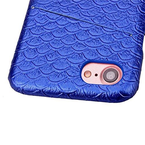 iPhone 7 Hülle, Apple iPhone 7 Hülle, Lifeturt [ Blau ] Gemalt Mode-Design PC Hardcase Handycover Schutzhülle Etui Telefon-Kasten Hülle Case für Apple iPhone 7