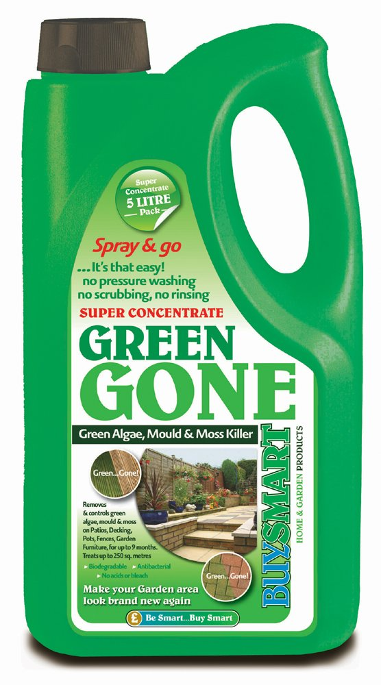 Buysmart Products 5L Green Gone Super Concentrate Algae Mould/Moss Killer Buysmart Products Ltd