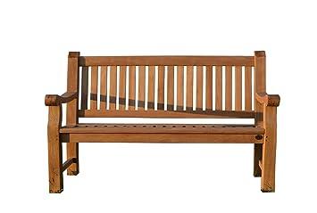 Amazon De Furniture4life Hochwertiger Teak Dreisitzer Parkbank