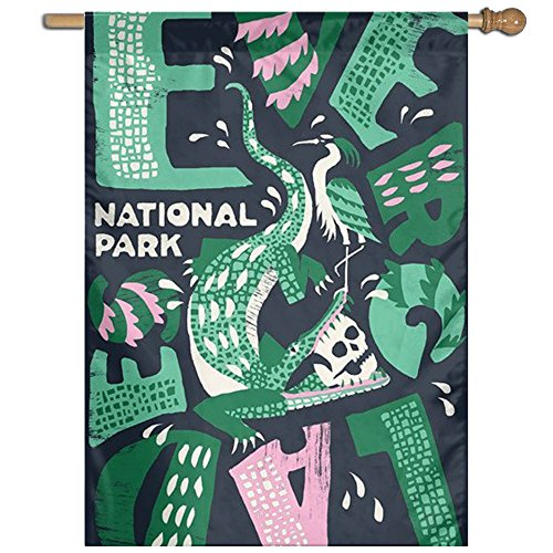 US National Park Logo Wear Resistant Seasonal Porch Garden Flags Semi Transparent Polyester Fiber 27