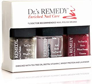 product image for Dr.'s REMEDY Enriched Nail Care HEALTHY HOLIDAY TRIO SET, 1.5 Fluid Ounce