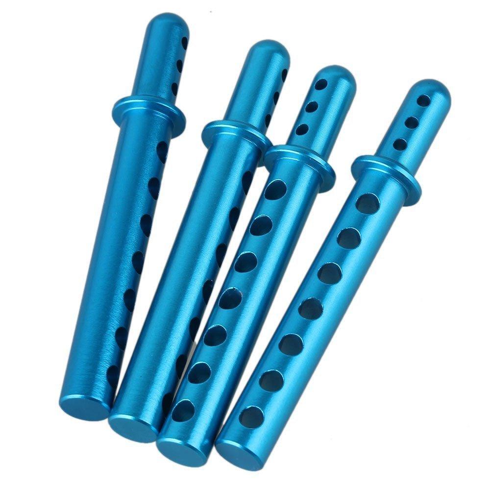 SODIAL(R) 4pcs 862001 Aluminum Alloy RC 1:8 Blue Body Post Mounts for HSP Model Car Upgrade 134209
