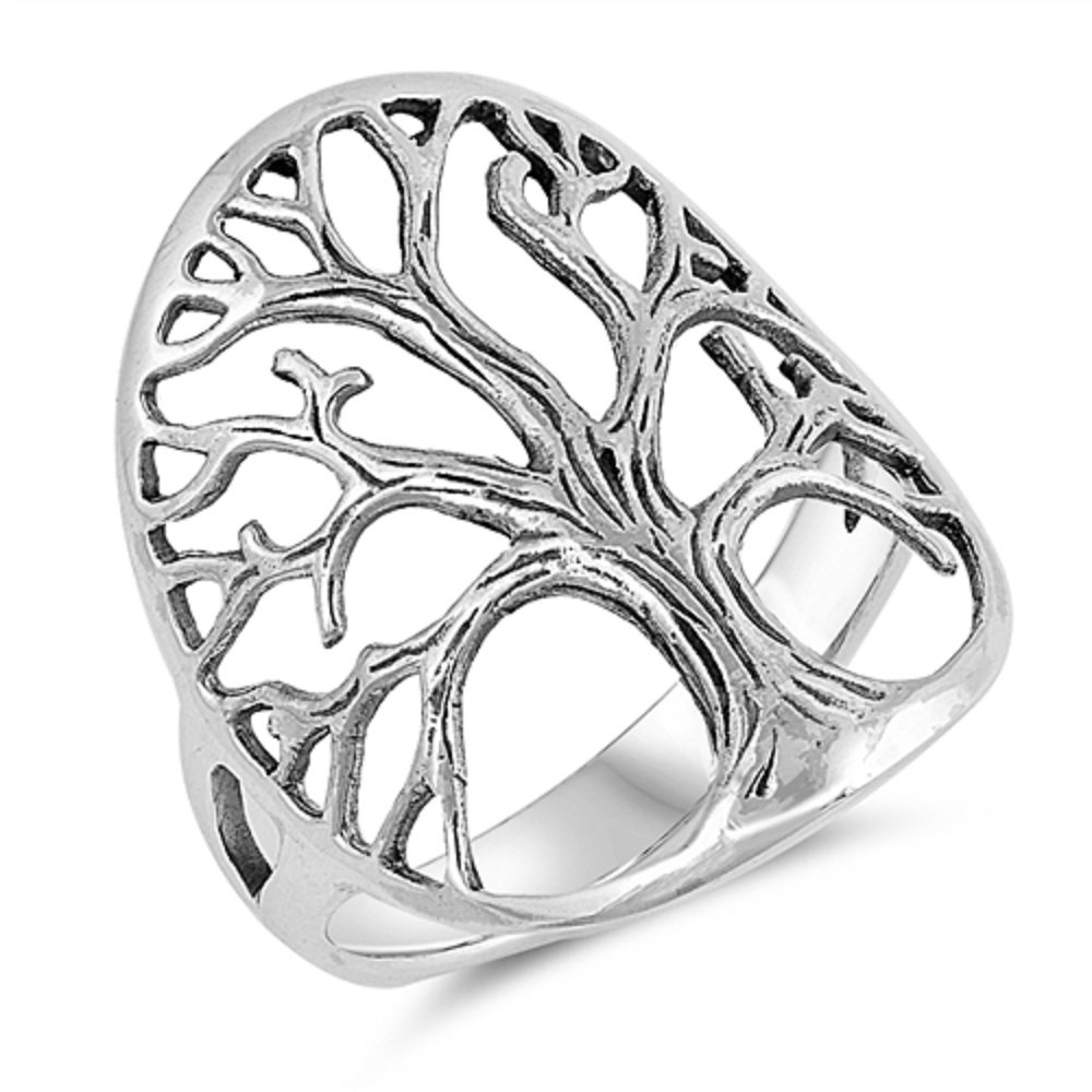 CloseoutWarehouse Sterling Silver Tree Of Life Ring Size 10