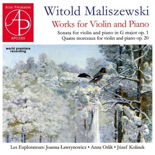 Price comparison product image World Premiere Recording,  Witold Maliszewski (1873-1939): Works for Violin and Piano by piano awrynowicz Joanna