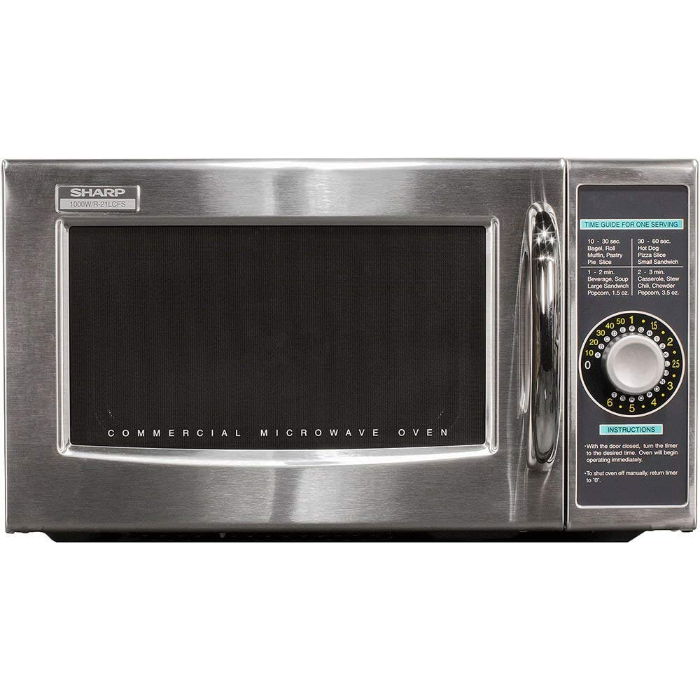 Sharp R-21LCFS Medium Duty Commercial Microwave (Dial Timer, 1000-Watts, 120-Volts) (Update of R-21LCF) by Sharp