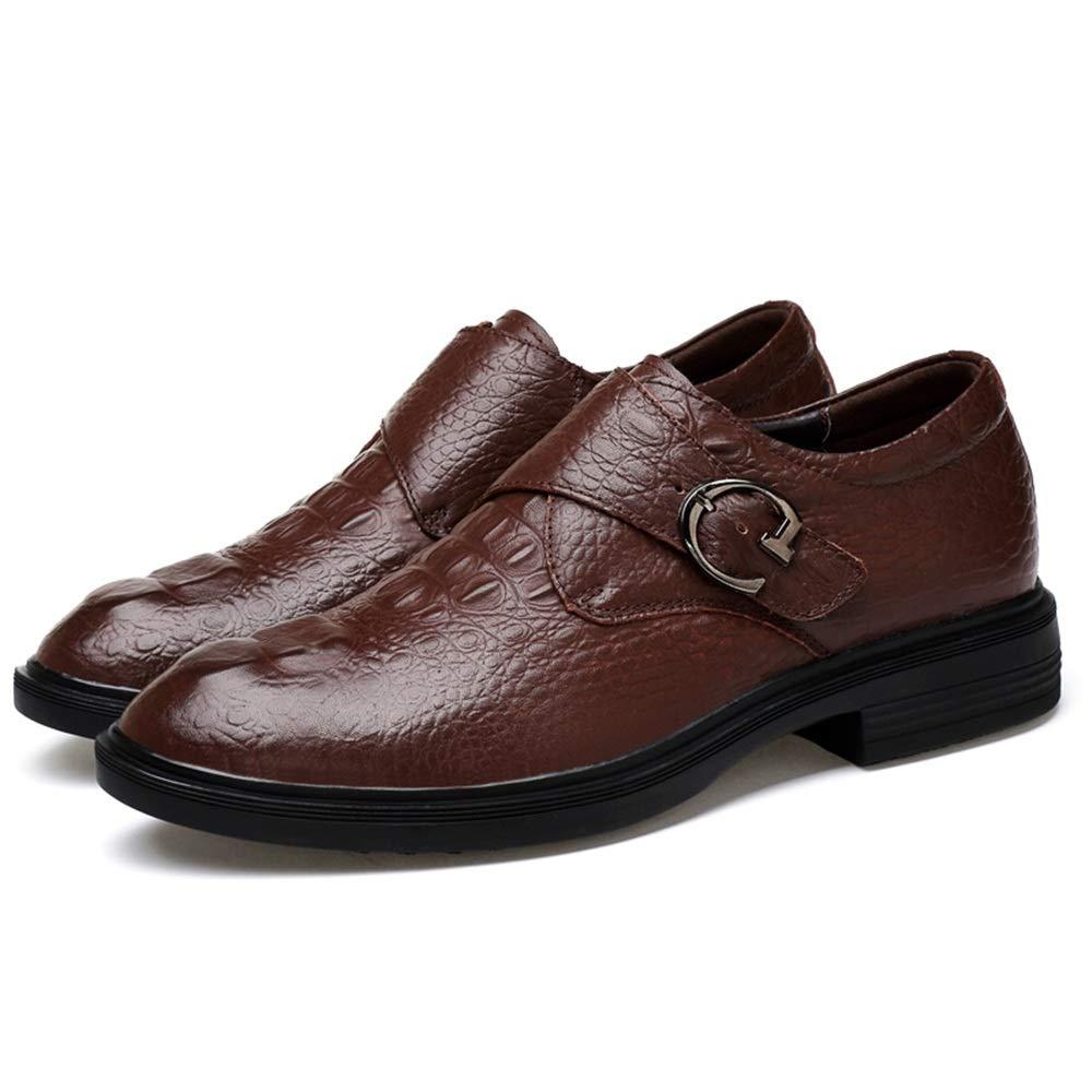 Marron Shuo lan hu wai Chaussures habillées pour Hommes Oxford décontractées en métal antirouille avec Boucle à Boucle,Chaussures de Cricket (Couleur   Marron, Taille   38 EU) 35 EU