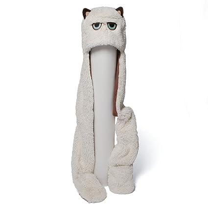 032da44332c Amazon.com  Gund 4048616 Grumpy Cat Scarf Hat Plush  Toy  Toys   Games