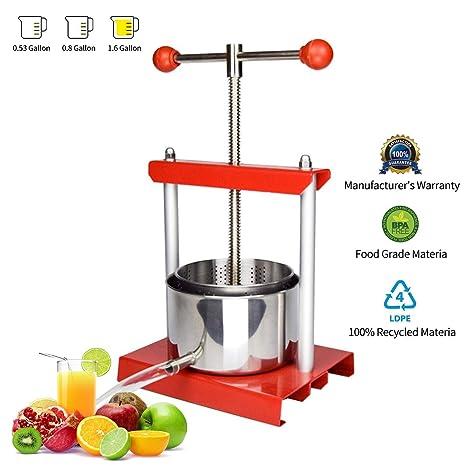 Amazon.com: EJWOX - Prensa para vino o frutas (acero ...