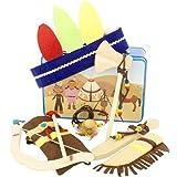 Ulysse 22743 - maleta con ropa y accesorios para vestirse como Little Indians, edad 3 años
