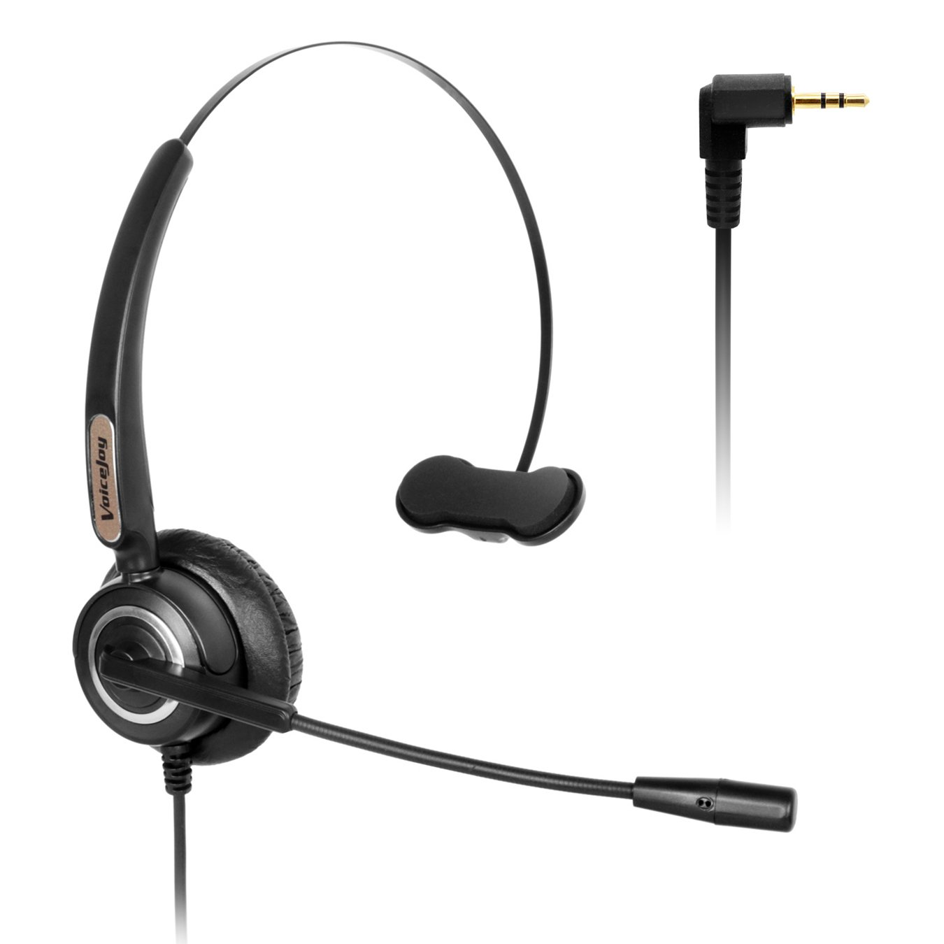 Telephone Headset with Microphone Wired Phone Headset for Panasonic Cordless Phones with 2.5mm Jack Plus Many Other DECT Phones Polycom Grandstream Cisco Linksys Spa Zultys Gigaset Ip Phones