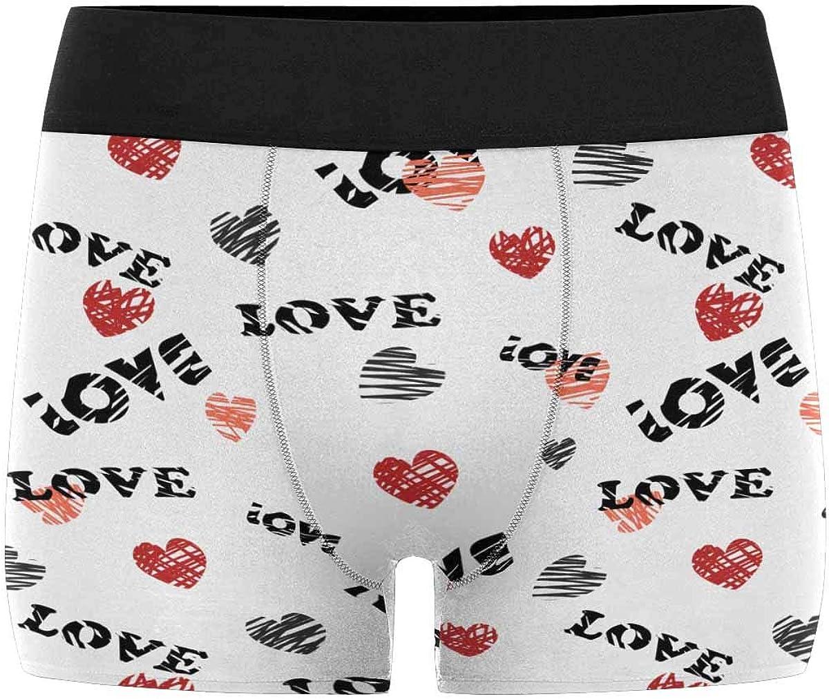 M Merry Christmas Snowman and Snowflakes XS-3XL INTERESTPRINT Boxer Briefs Mens Underwear