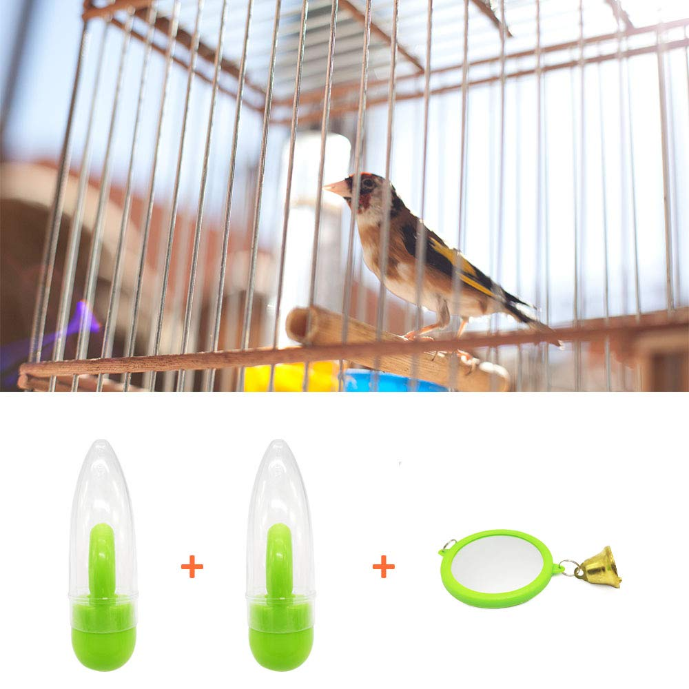 7 Days Capacity Clear Plastic Seed /&Water Dispenser 2 Pack Fits Most Cage Jmxus Bird Feeder and Drinker Set Automatic Feeding for Parrot Parakeets Canaries Finches Budgie