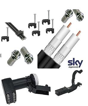 Sky HD Octo LNB - Cable coaxial para antena, satélite y ...