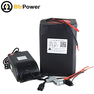 48V E-Bike Battery 10AH - 50AH Lithium ion / Lifeo4 Battery Pack with 5A Charger, 50A BMS for 500W-3000W Motor (48V 30AH) : Sports & Outdoors