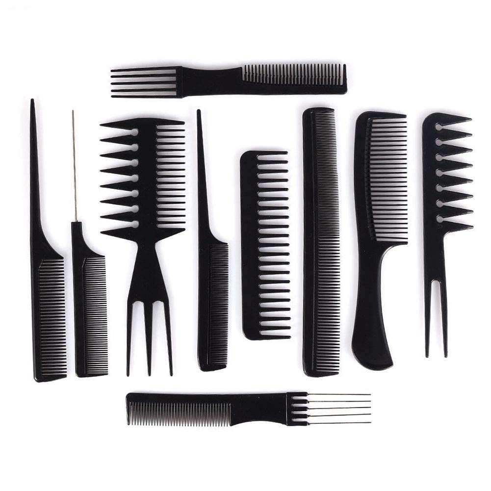 Professional Salon Hair Comb Set Hairdressing Stylists Barbers Combs Cosmetic Tools Makeup Hair Styling Comb 10Pcs Beautyer