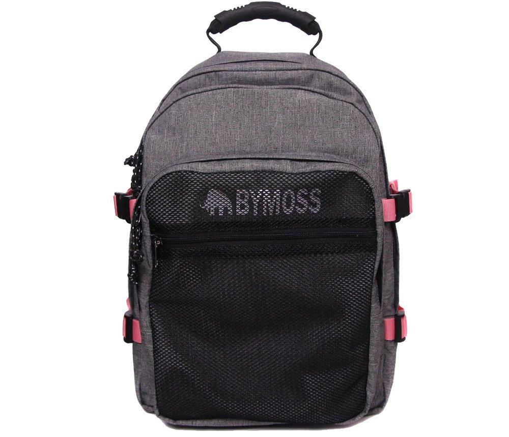 [バイモス]BYMOSS マキシマム リュック 3シリーズ男女兼用 (Maximum Backpack 3Series) [並行輸入品] B01N9EIFA6 グレーピンク グレーピンク