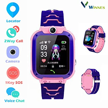 Amazon.com: Winnes Kids Smartwatch LBS GPS Tracker, IP67 ...