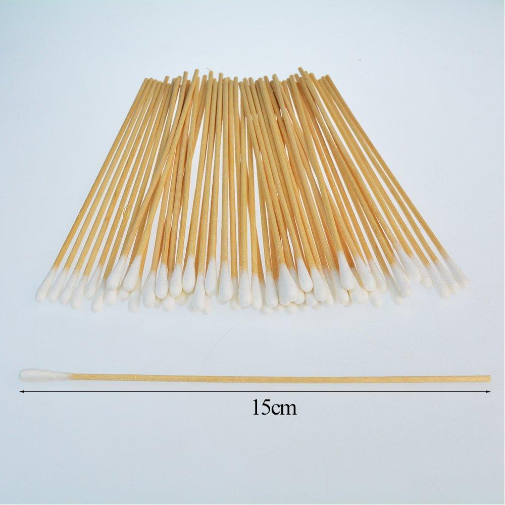 Bantoye Lot de 500 b/âtons de coton avec poign/ée en bois pour nettoyer les plaies le retrait des r/ésidus le maquillage