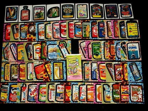 (Topps Wacky Packages Flashback2 Complete Set 72/72 Stickers + Wrapper)