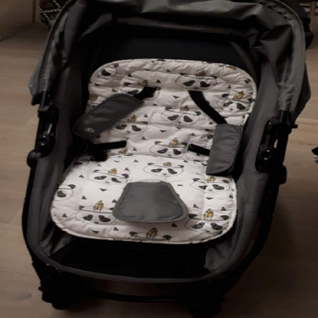 Coj/ín para cochecito de beb/é,coj/ín de algod/ón universal forro de asiento para beb/és,cochecito de ni/ño reci/én nacido asiento port/átil Panda