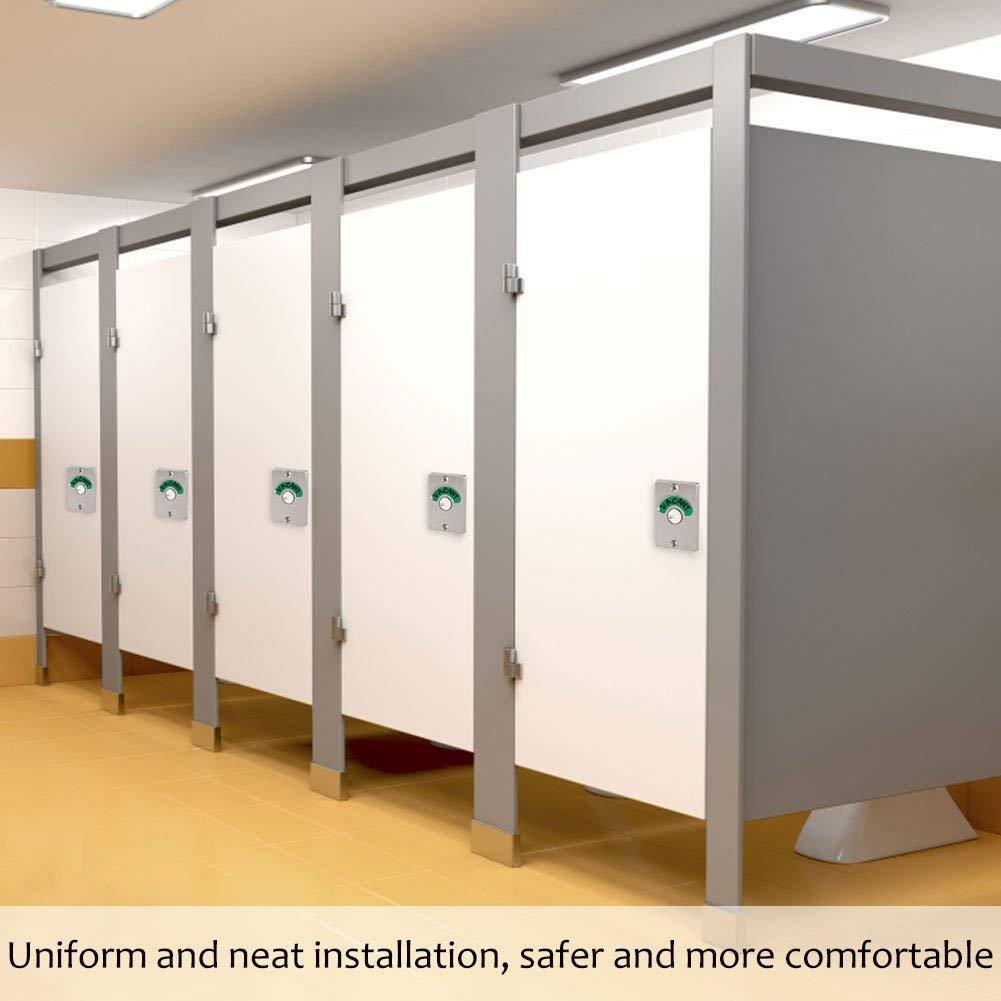 T/ürgriff mit Anzeige T/ürschloss Edelstahl Schraube Frei//Eingerichtet f/ür Badezimmer WC /Öffentliche Toiletten WC Privacy Partition