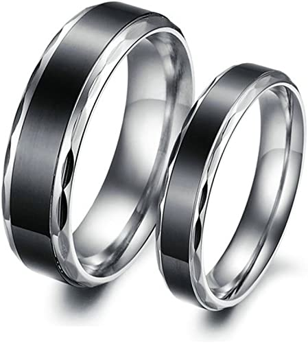 6MM Coupel Rings Women Size 7 /& Men Size 8 Bishilin 2Pcs Stainless Steel Wedding Ring Sets Men and Women Gold Plated High Polished 8MM
