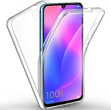AROYI Funda de silicona con cubierta transparente de 360 grados ...