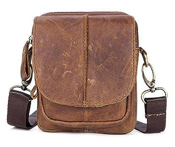 878b1bf6b83 Vintage Sac d épaule en cuir Sacoche Sac en bandoulière Besace en Cuir  Véritable Sac