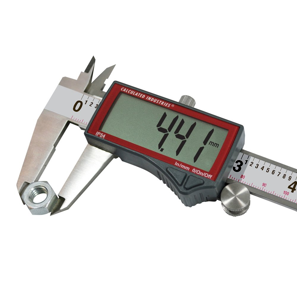 Calculated Industries 7418 AccuMASTER Electronic Digital Vernier Caliper | Metric/SAE Inch to Millimeter Conversion | Tool Measures 0-6 Inches/150mm | Stainless Steel | Largest Display Digits |IP54 by Calculated Industries (Image #6)