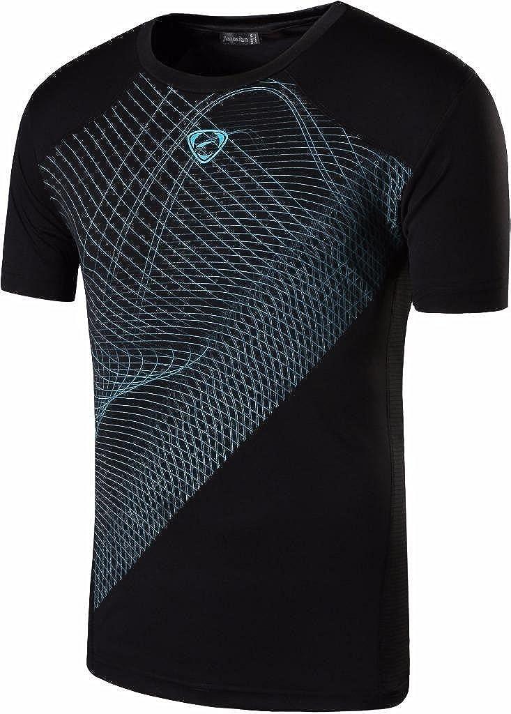 Jeansian Uomo Asciugatura Rapida Sportive Casuale Slim Sports Tshirts Fashion Mens Sport Tee T-Shirts Tops Running Camicie LSL133