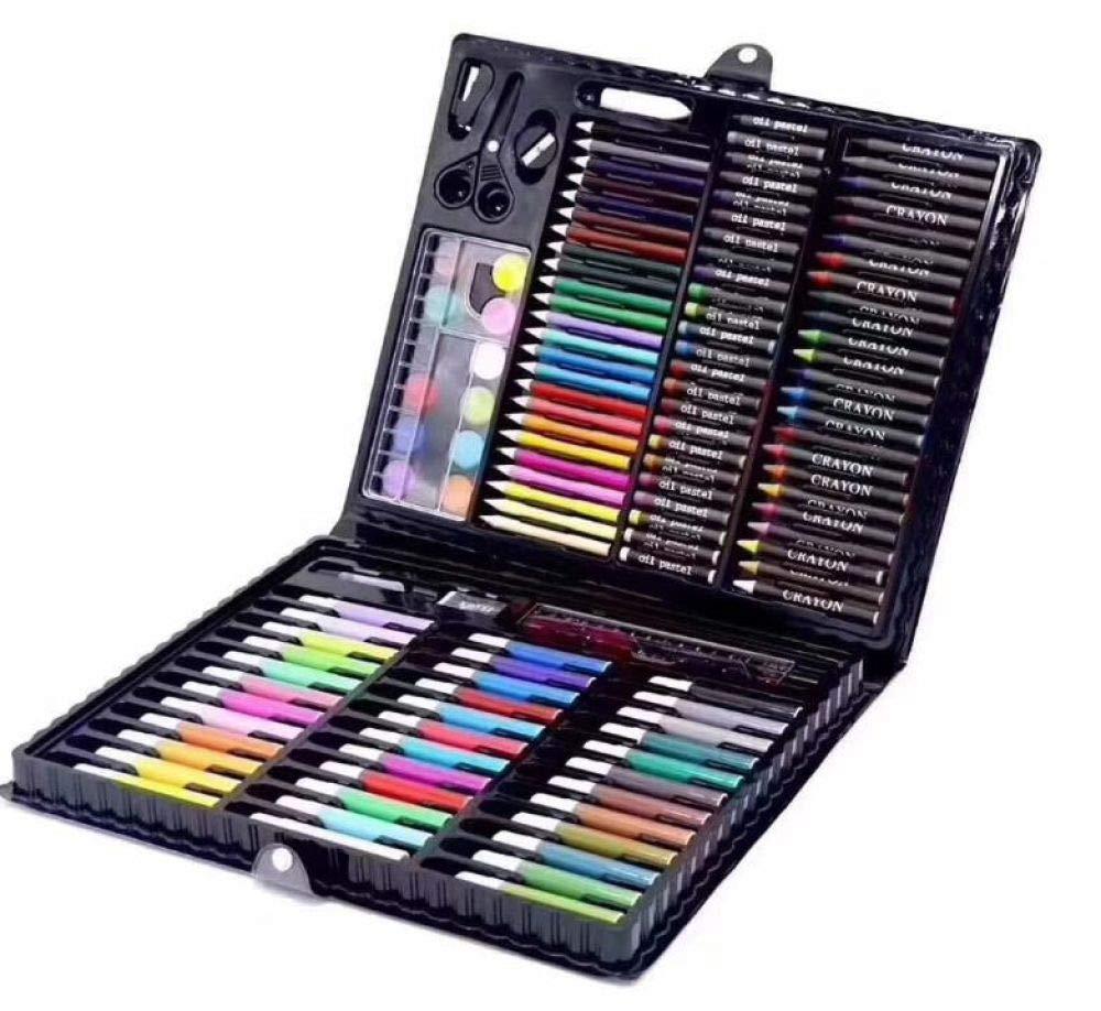 Art JKWL Set per Bambini di Arte avanzata, 258 Set di Pittura per scatole in Legno per Bambini, Scuola elementare Pennello Acquerello Penna Bambini Combinazione di cancelleria di Graffiti
