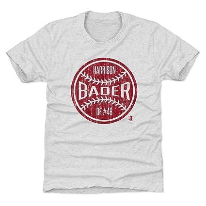 Amazon.com   500 LEVEL Harrison Bader St. Louis Baseball Kids Shirt ... c470fb1d2