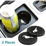 Bearfire 2.75 Inch Diameter Oval Tough Car Logo Vehicle Travel Auto Cup Holder Insert Coaster Can 2 Pcs Pack (fit…
