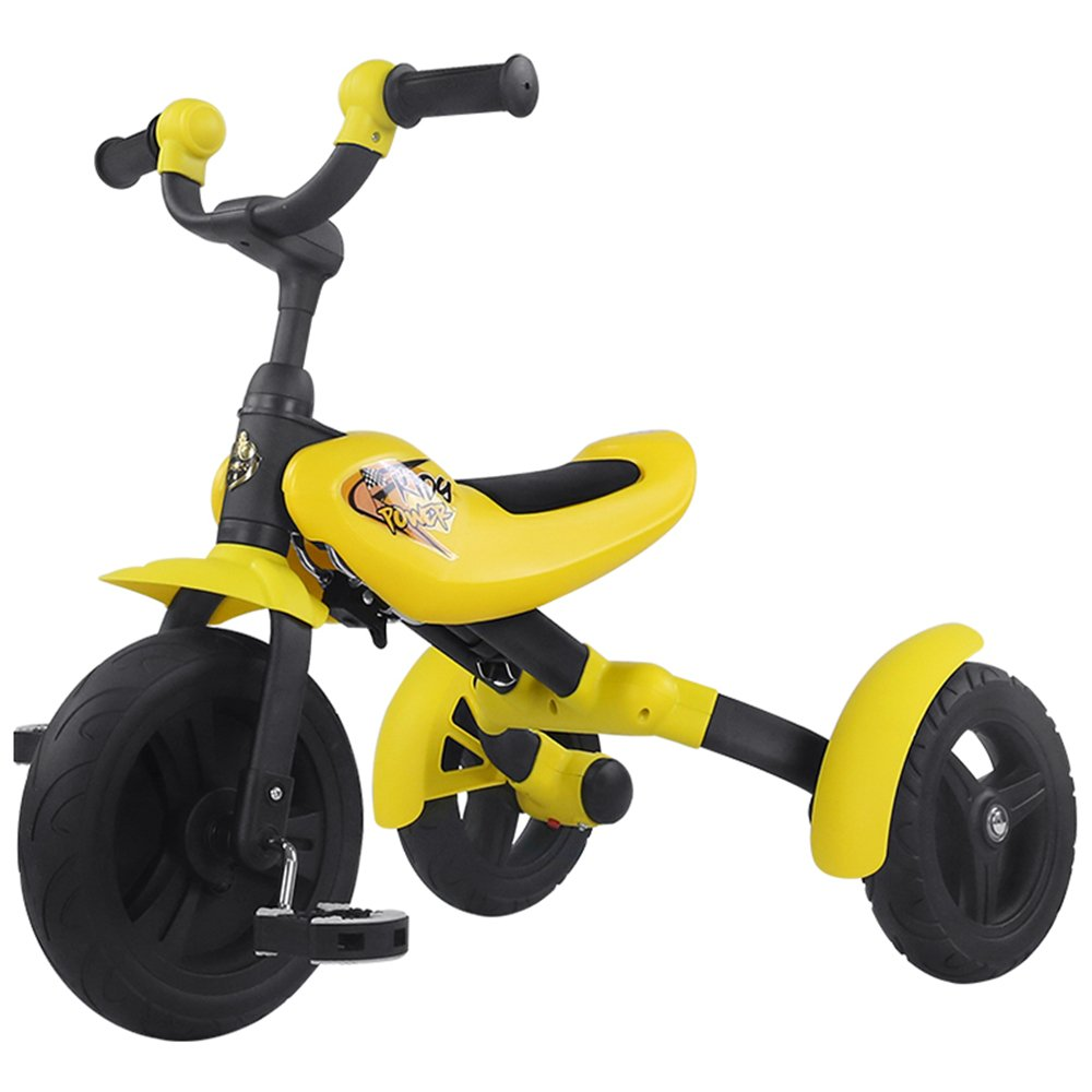 YANGFEI 子ども用自転車 ライダーTrikeライド折りたたみキッズ子供アウトドアペダルバイクピンクレッドイエロー2歳5歳。 212歳 B07DWTWRG7 イエロー いえろ゜ イエロー いえろ゜