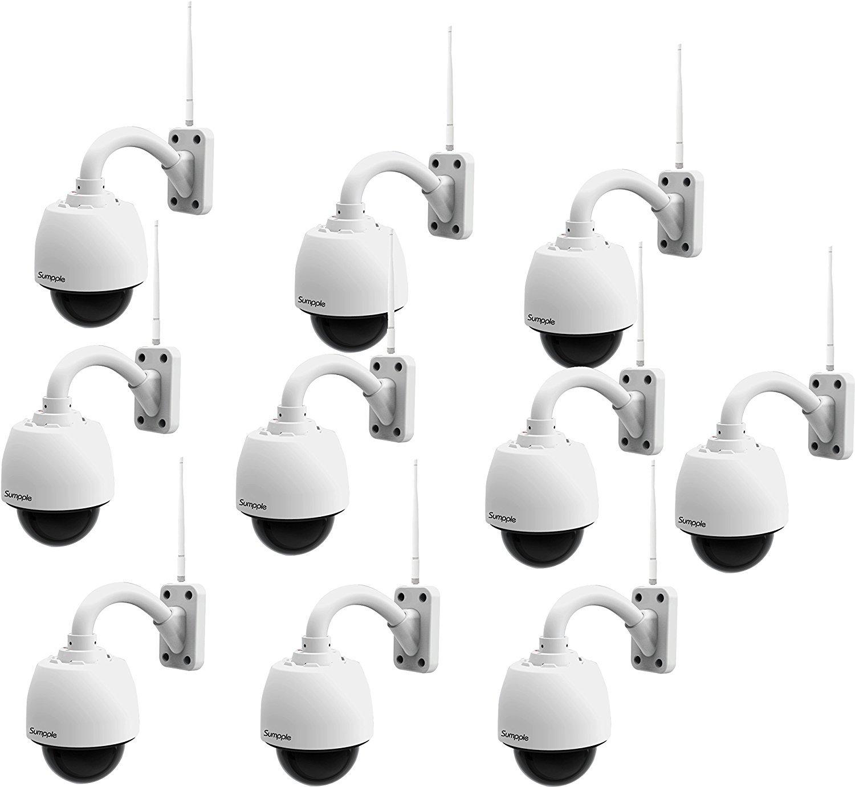 Sumpple 10X 無線WiFi/有線 1280x960P 130万画素 4倍光学ズーム IPネットワークカメラ 4G MicroSDカード付き 家庭/事務所 屋内/屋外 PTZ制御 IP66防水 通常録画 暗視機能 動体検知 遠隔操作 IOS、Android、またはラップトップPC対応 日本語説明書 ホワイト B07546675Q 4G|10Xホワイト 10Xホワイト 4G