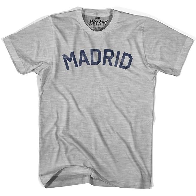 Madrid ciudad Vintage camiseta blanco blanco L