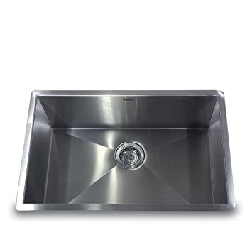 nantucket sinks zr281816 28inch pro series single bowl undermount kitchen sink