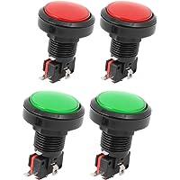 sourcingmap Cabeza redonda Rojo Verde 36mm dia juego