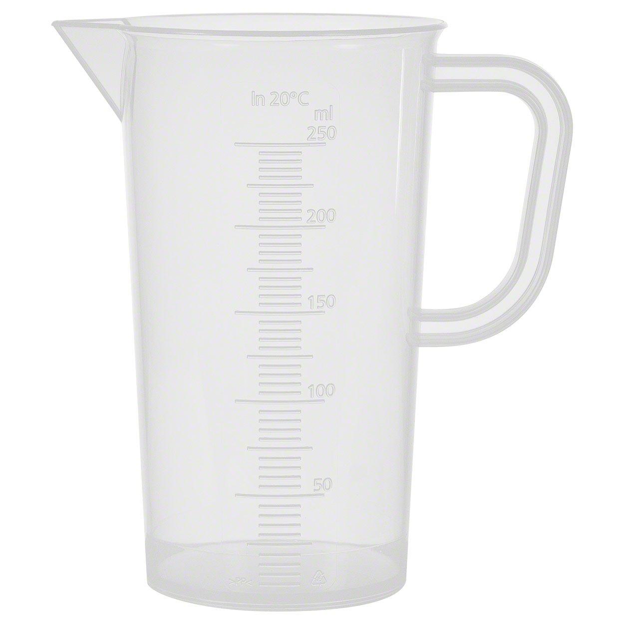 Dosierhilfe 250 ml Kunststoff Messkanne Ma/ßbecher Messbecher