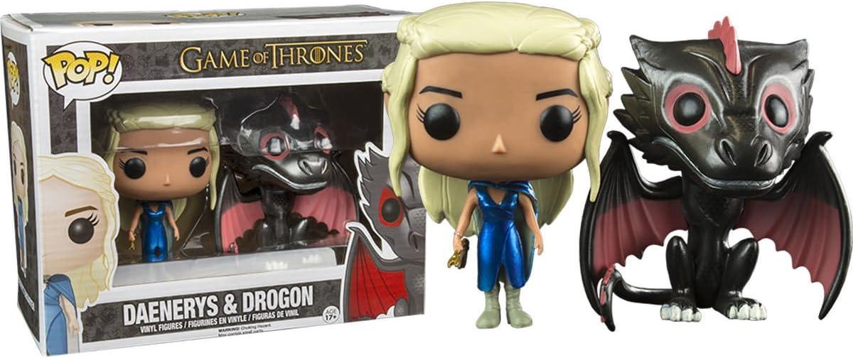 Juego de Tronos Pack de 2 POP! Vinyl Figuras Daenerys & Drogon 10 cm