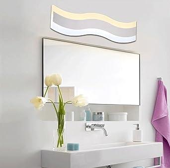 MSAJ-Gebogene vordere Scheinwerfer, LED-Spiegel, Badezimmer ...