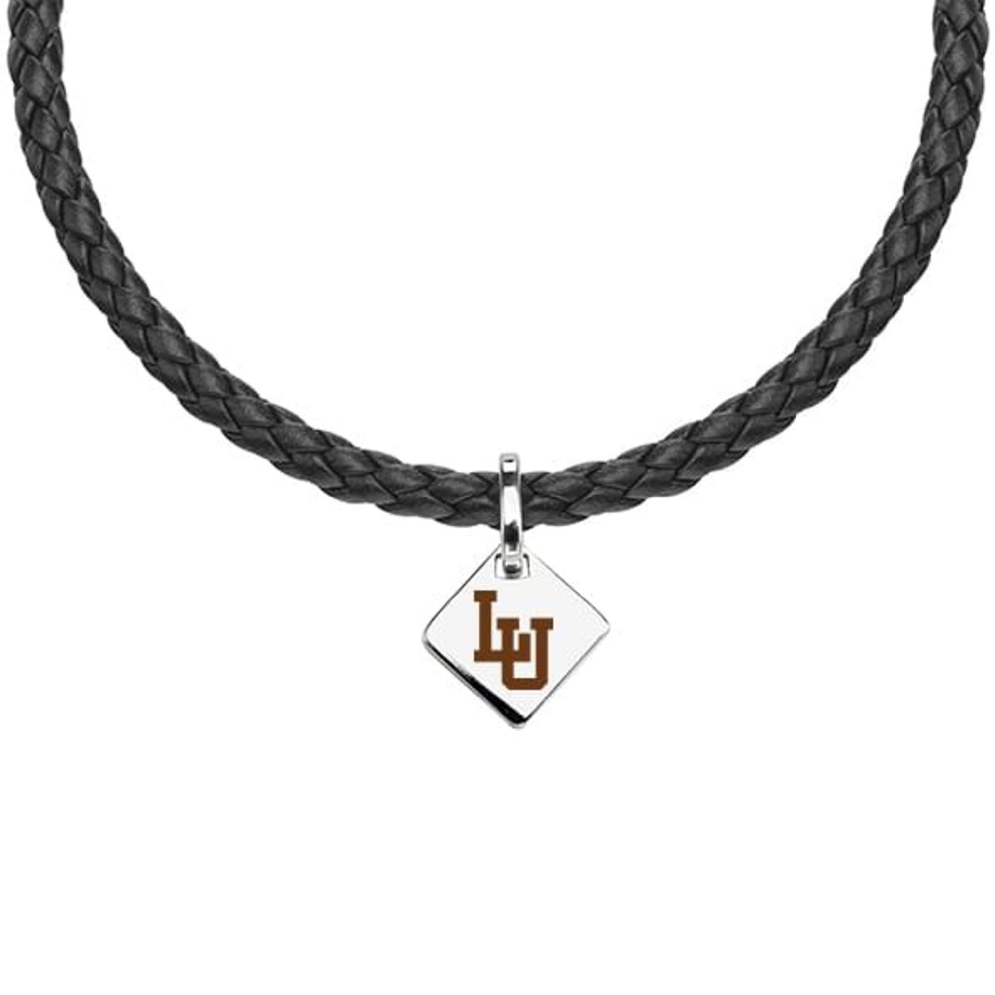 M. LA HART Lehigh University Leather Necklace with Sterling Silver Tag