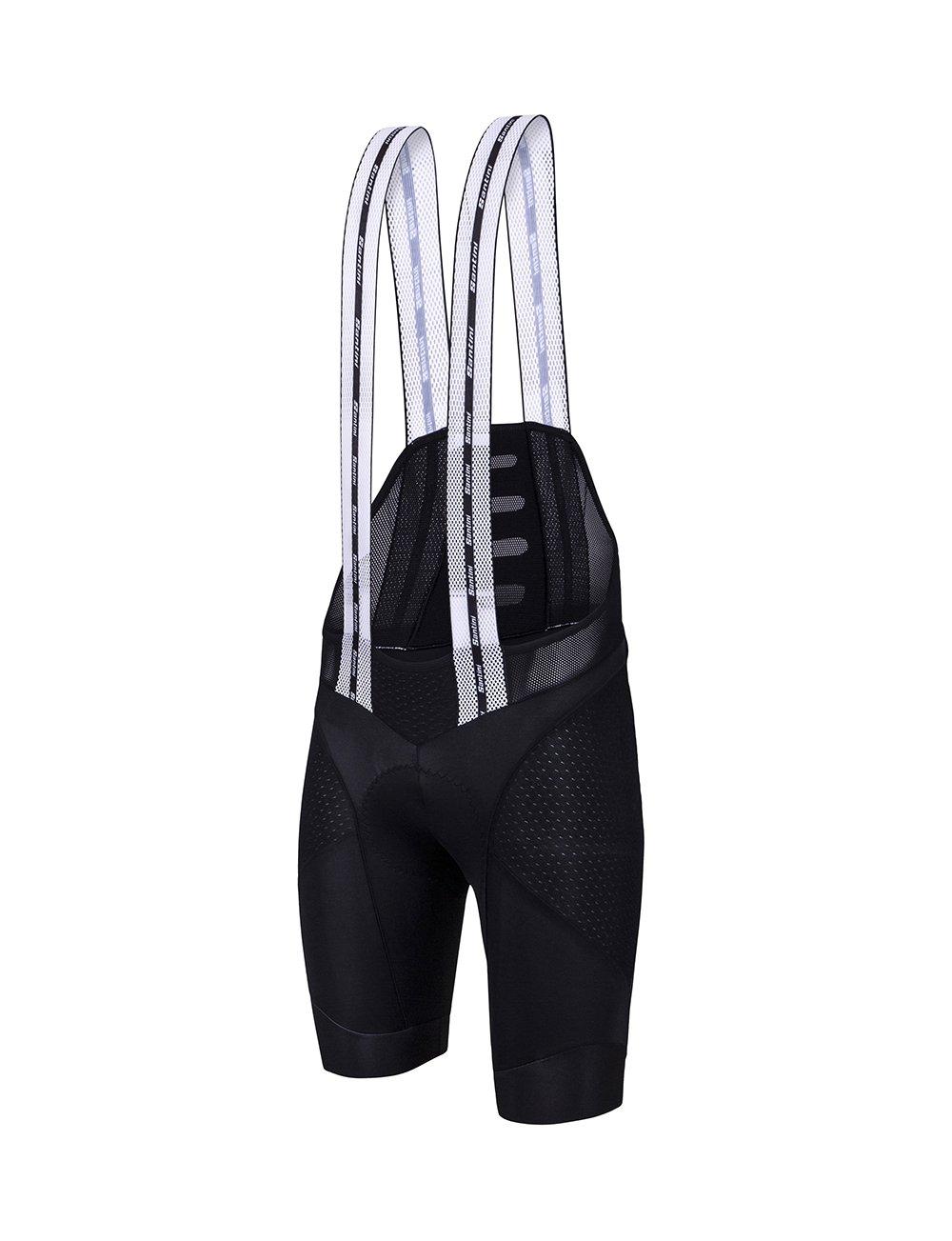 Santini BCool Bib Shorts – Men 's B019HPFDEQ Small|ブラック ブラック Small
