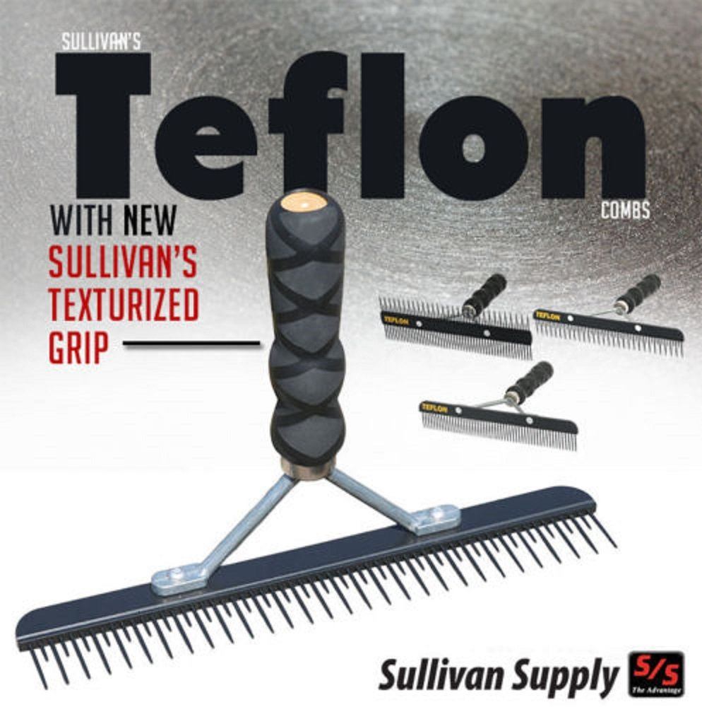 Sullivan Cow Calf Steer Holstein Heifer TEFLON FLUFFER Comb Textured Grip Handle B071VCC4RB
