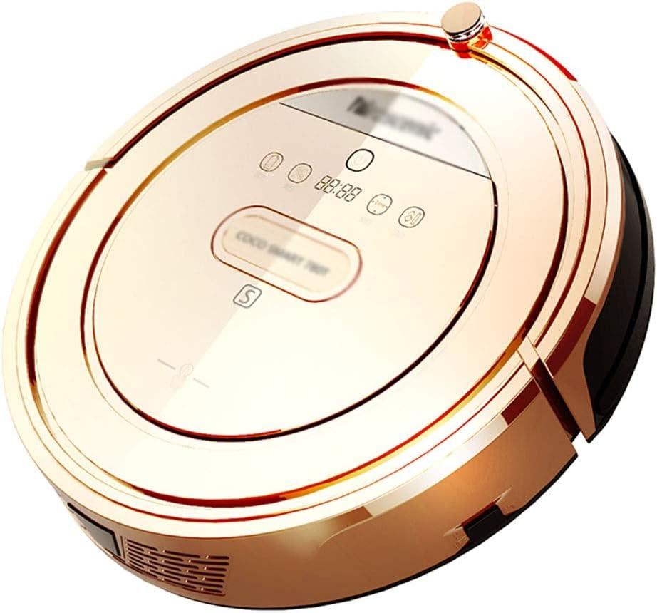 روبوت مكنسة كهربائية ذكية مسح روبوت مكنسة كهربائية تلقائية آلة مسح (اللون: ذهبي شامبانيا ، الحجم: 33 * 33 * 9 سم)