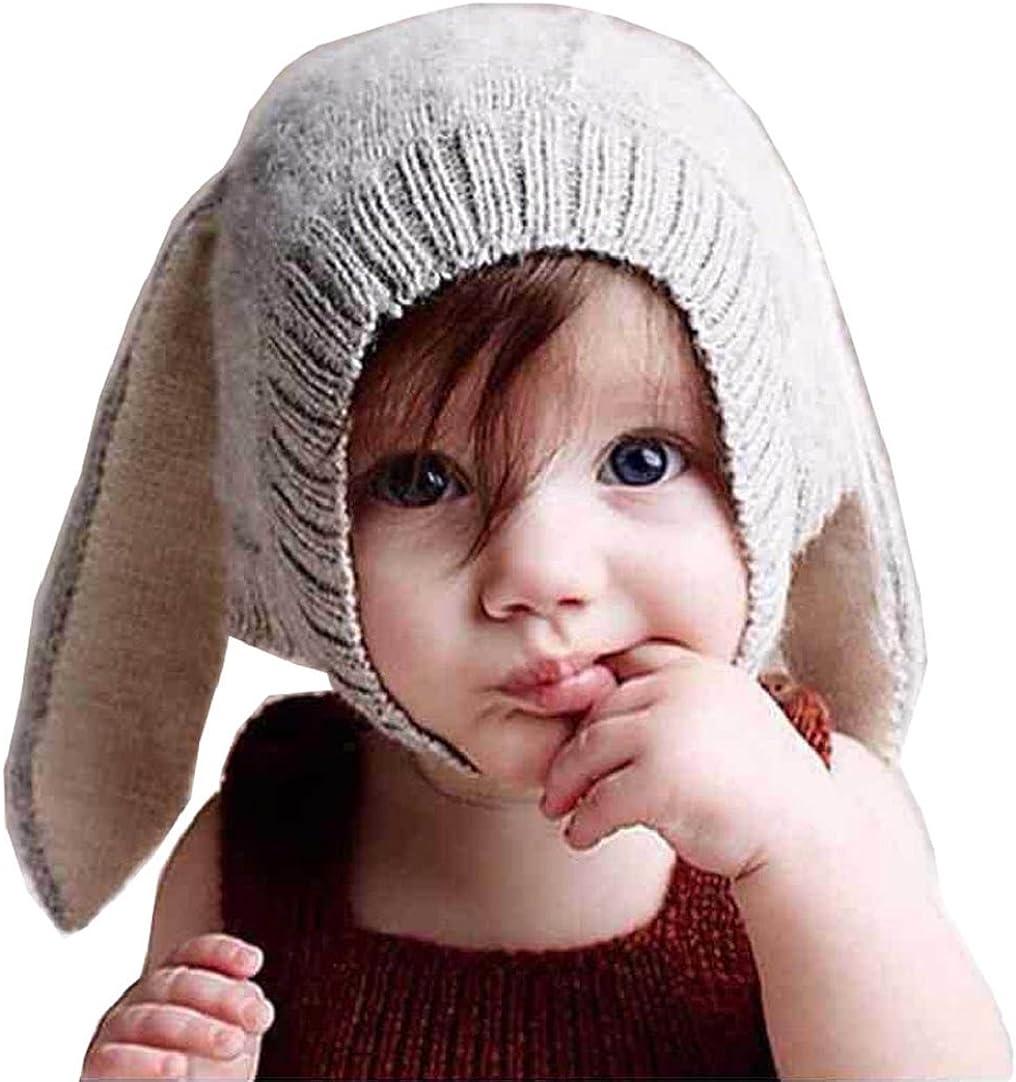 Tuopuda/® Babym/ütze Winter M/ädchen Jungen Winterm/ütze mit Ohren Kinder M/ütze Strick Hut Warm
