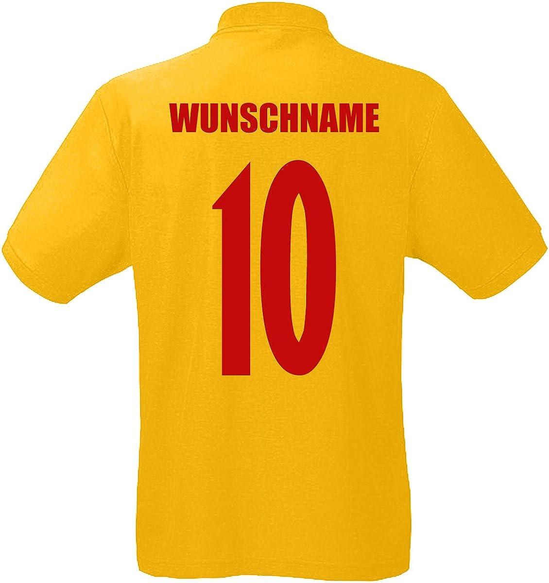 Rum/änien Romania EM-2020 Polo-Shirt Wunschname Wunschnummer