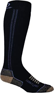 product image for Farm to Feet Men's Ely Mid Weight Over-The-Calf Socks, Charcoal, Small